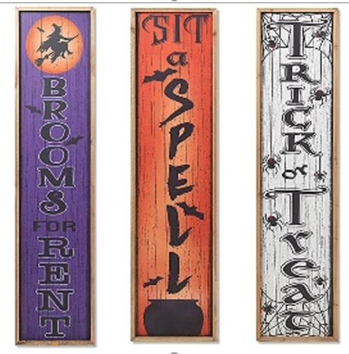 """48"""" Wood Halloween Porch Sign (3 designs to choose from)"""