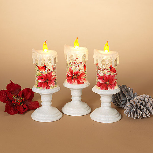 """LED 11"""" Water Spinner Candle Design (3 Designs to choose from)"""