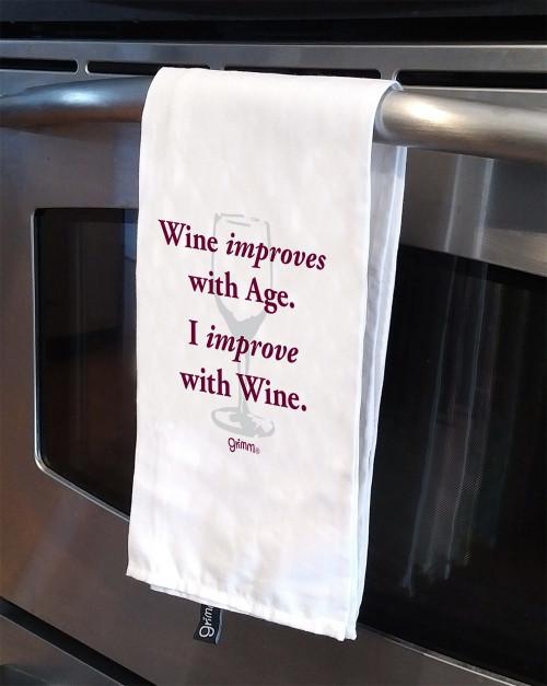 Tea Towel Wine improves with age