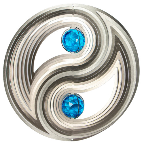 """Crystal Collection Yin & Yang 12"""" Wind Spinner"""