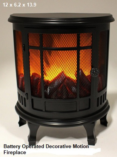 Decorative Motion Fireplace Battery Operated