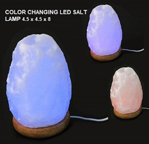 Natural Salt Lamp color changing