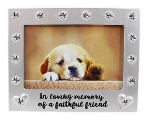 Pet memorial frame faithful friend