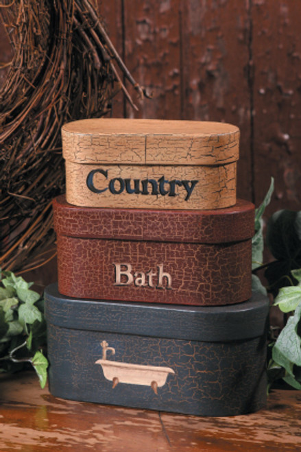 Nesting Boxes - Country Bath Set of 3