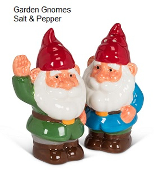 Garden Gnome Salt & Pepper Shakers