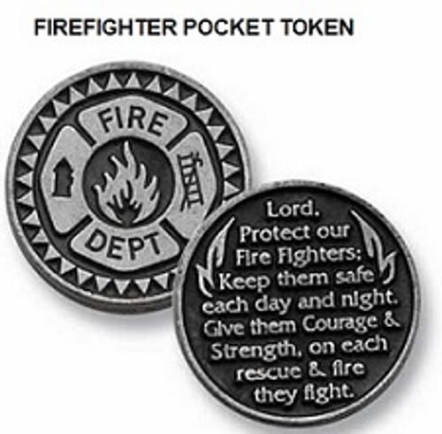 Firefighter pocket token