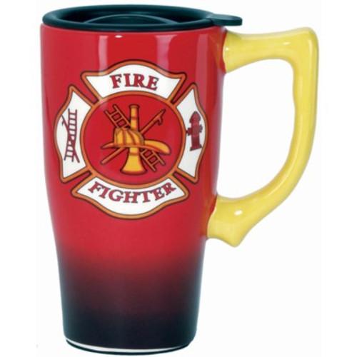 FIREFIGHTER TRAVEL MUG Ceramic