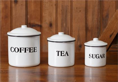 Coffee, Tea & Sugar Canister Set (3)
