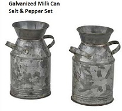 Milk Can Salt and Pepper Shaker Set