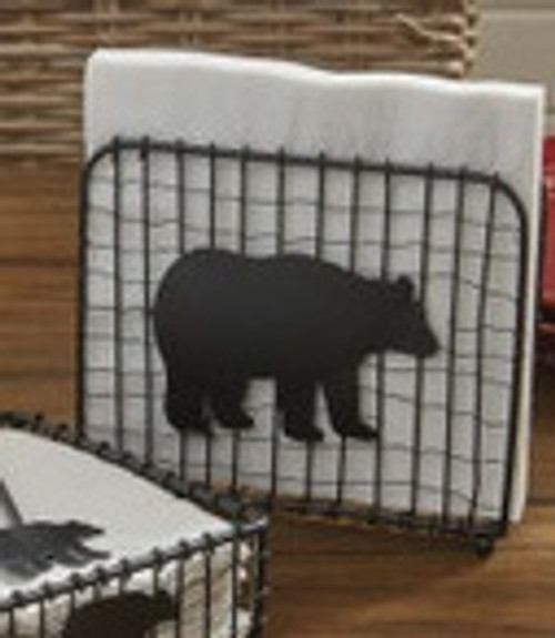 Black Bear Wire Napkin Holder