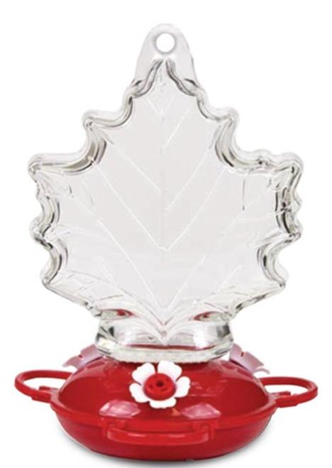 Maple Leaf Shape Glass Hummingbird Feeder