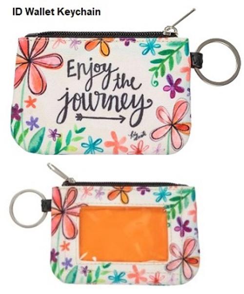 Enjoy The Journey ID Wallet Keychain