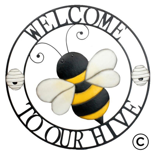 Welcome to our Hive Bee Circle Metal