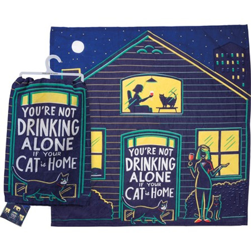Dish Towel - Not Drinking Alone If Cat Is Home