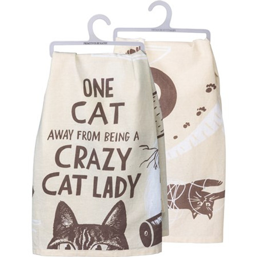 Dish Towel - One Cat Away From A Crazy Cat Lady