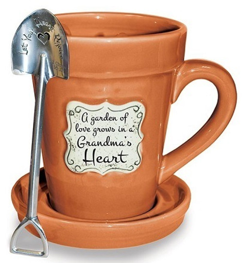 Flower Pot Mug Grandma