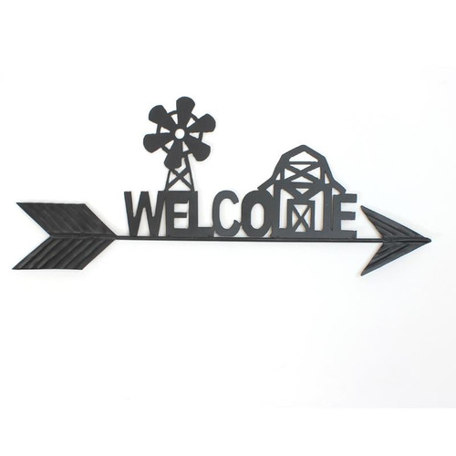 Welcome Farm Sign Metal