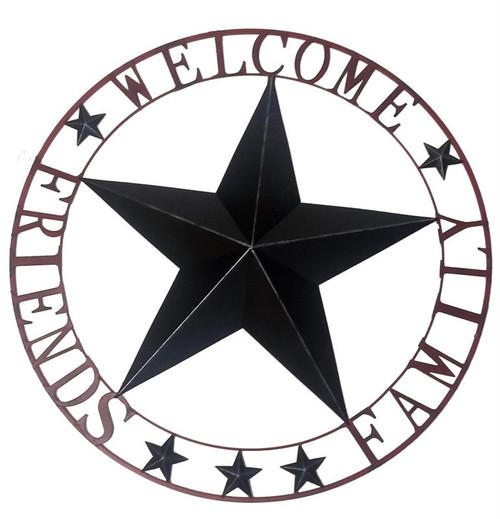 Welcome Star Circle Xtra Large Metal