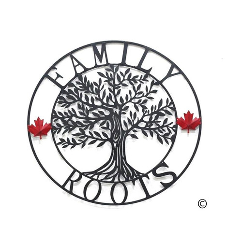 Family Roots Circle Metal