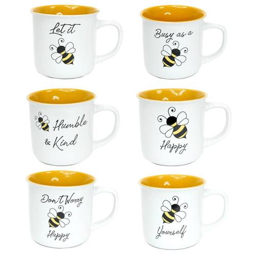 Bee Mug Ceramic 10oz (6 Designs to choose from)