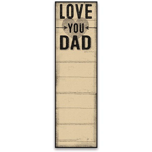 Magnetic List Notepad - Love You Dad