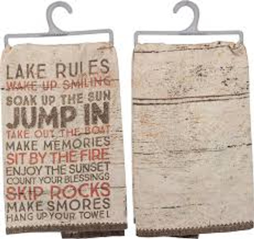"""Lake Rules"" Dish Towel"