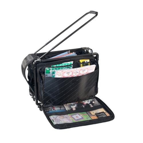Rear accordian file compartment
