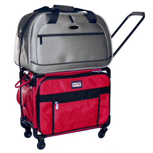 Secure additional bags with bungee