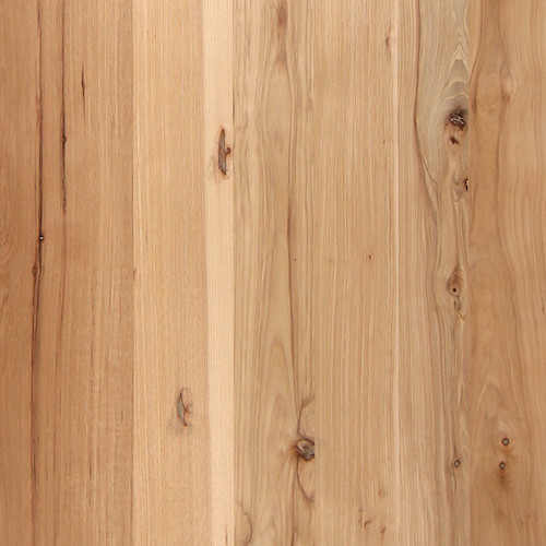 Rustic Random Planked Hickory w/ Knots Veneer