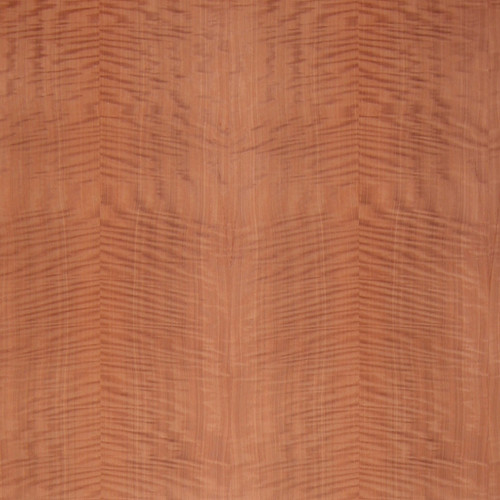Makore Veneer - Fiddleback Medium Figure