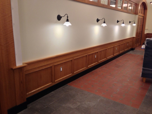 Cafe Doors from Rift Red Oak Veneer