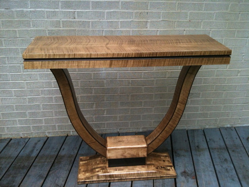 English Sycamore Veneer Side Table