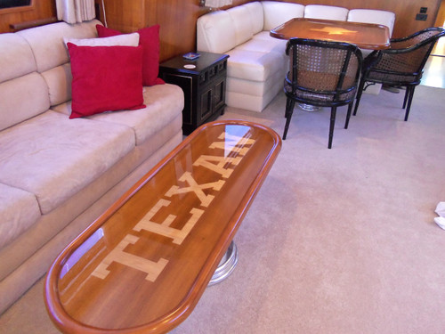 "Teak Veneer ""Texan"" Yacht Tables"
