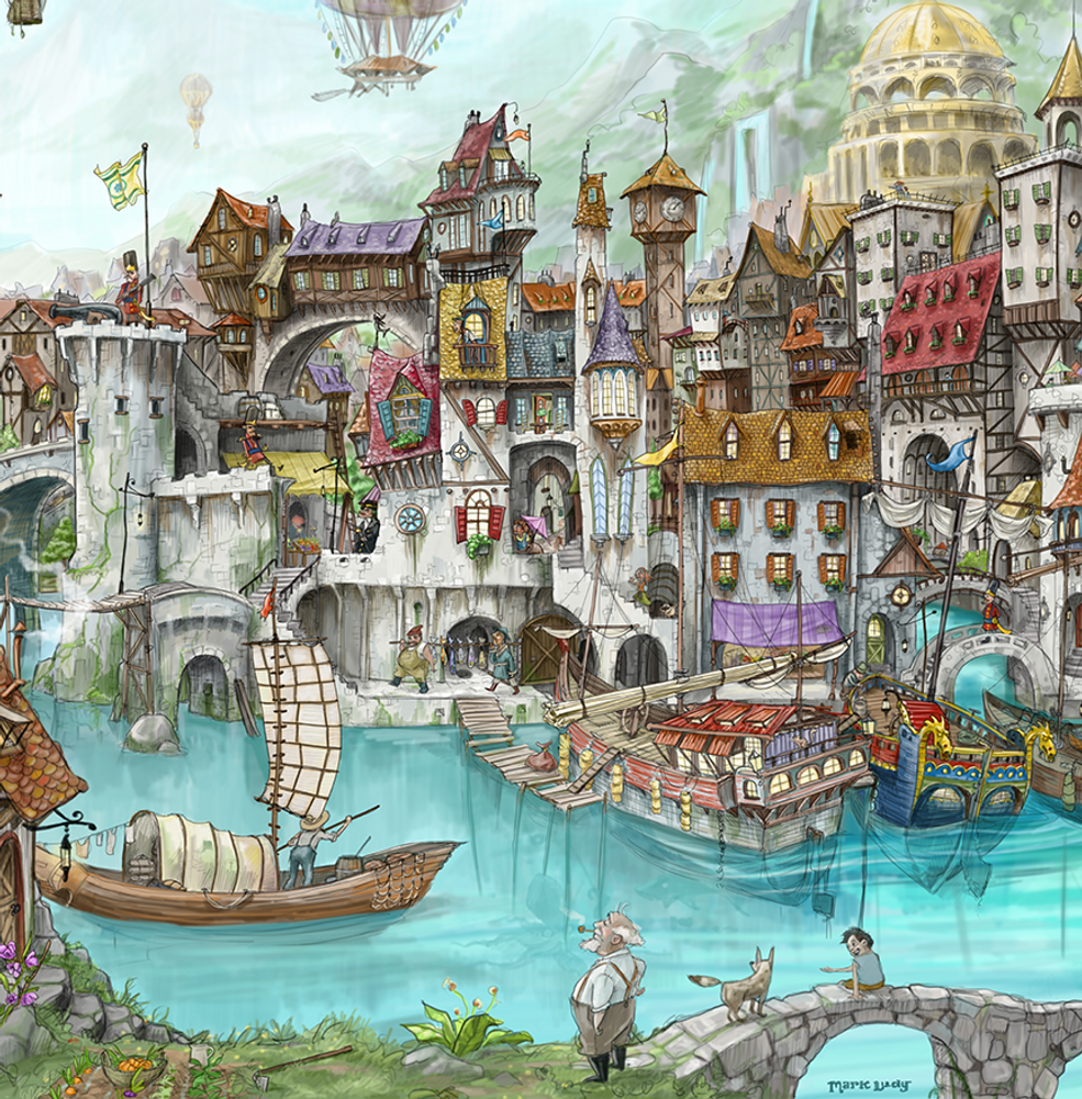 One Harbor Morn / Artwork