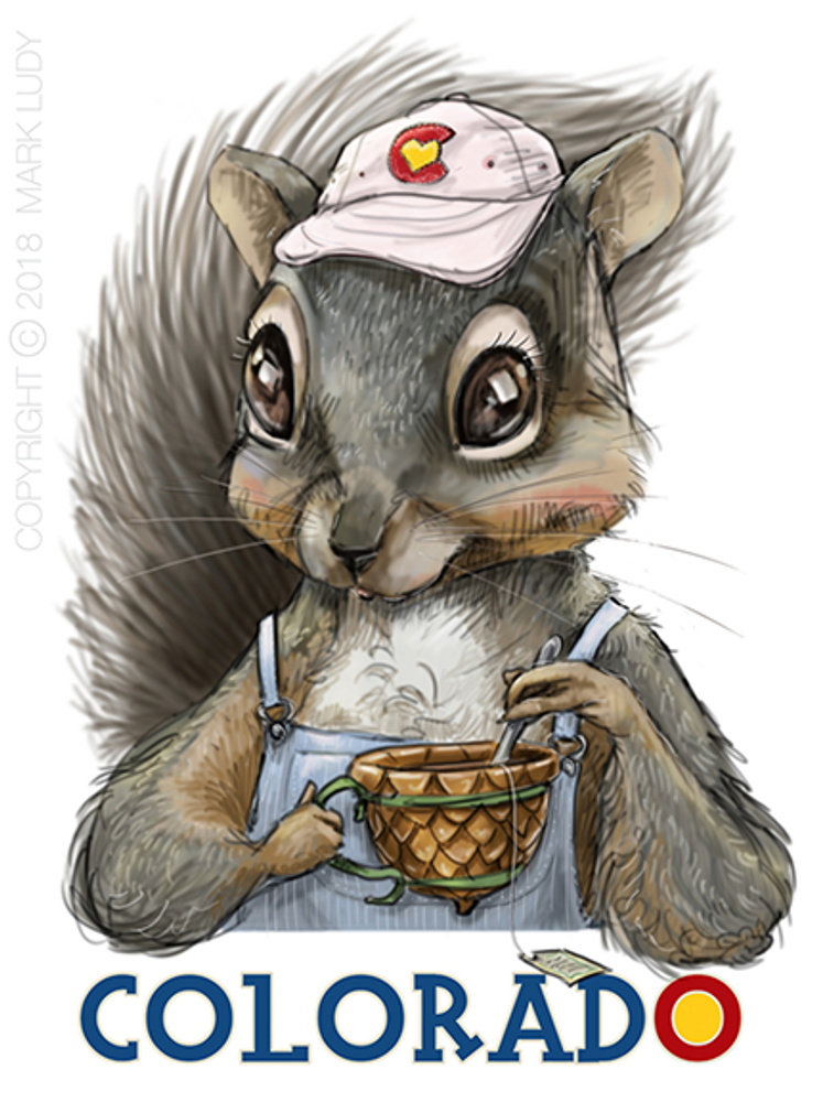 Colorado Squirrel / Artwork by Mark Ludy