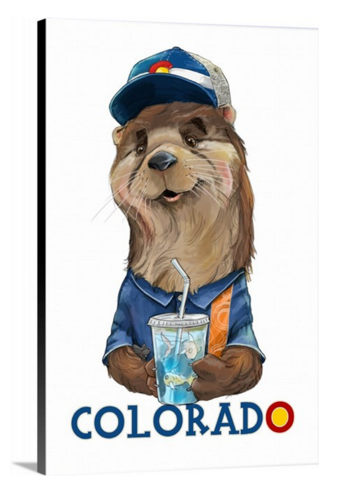 Colorado Otter / Artwork by Mark Ludy