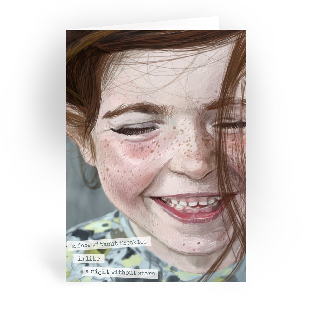 "Freckles / 5x7"" Greeting Card*"
