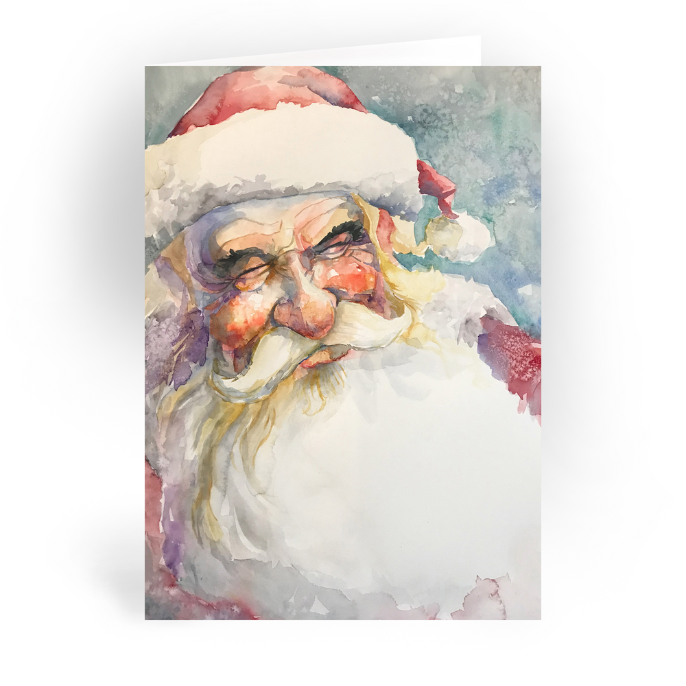 "Smiling Santa / 5x7"" Christmas Greeting Card*"