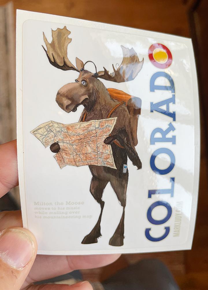 """Colorado Moose / Sticker 3x5"""""""