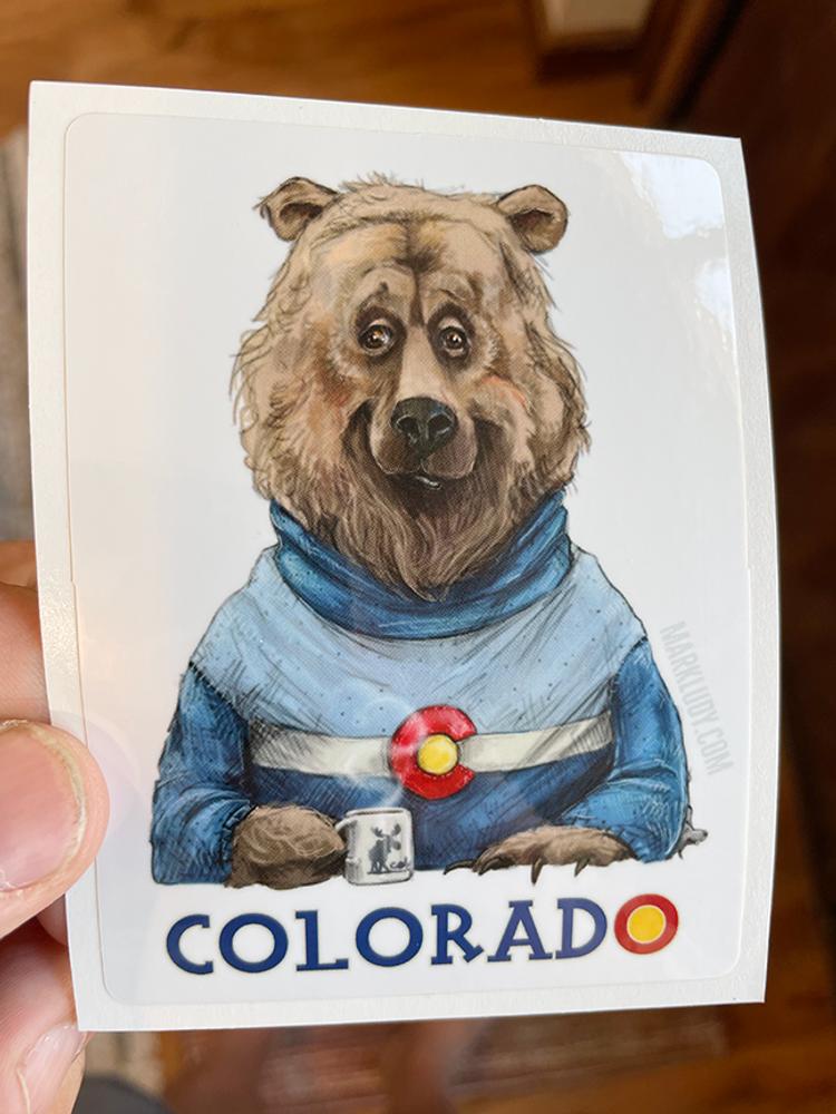"Colorado Bear / Sticker 3x5"""