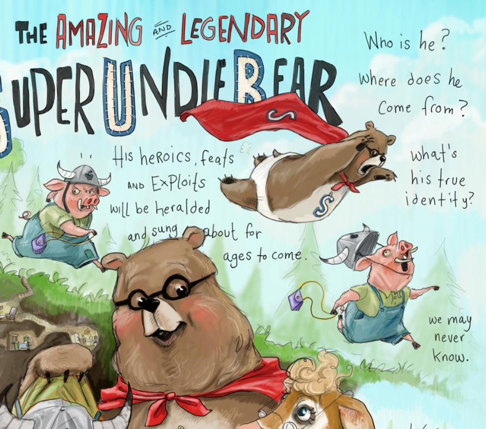 Super Undie Bear / Small Prints
