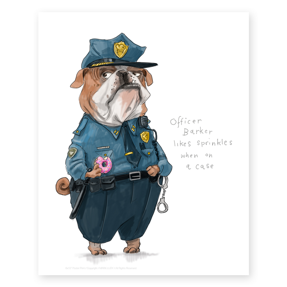 Officer Barker / Small Prints