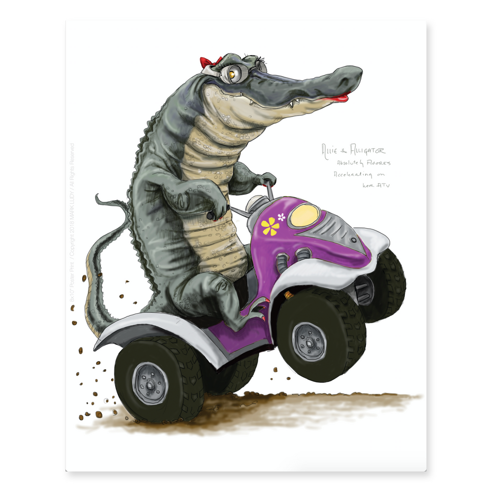 Allie the Alligator / Sm Print