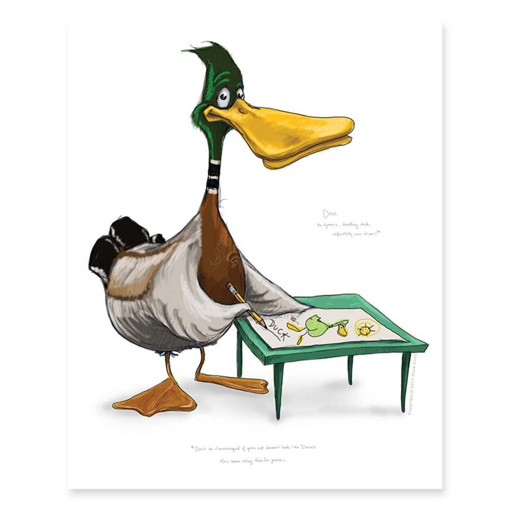 Dave the Duck / Sm Print