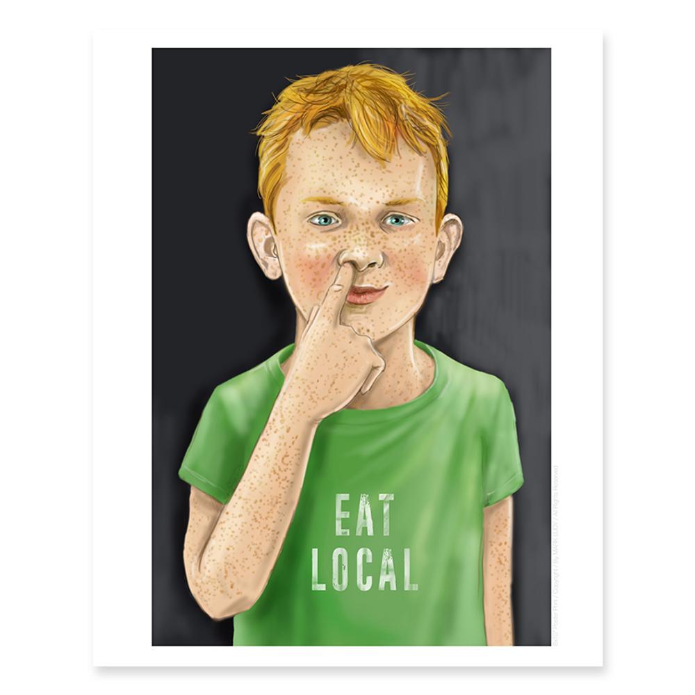 Eat Local / Sm Print