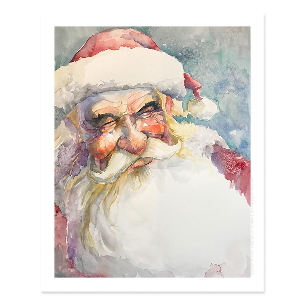 Smiling Santa / Sm Print