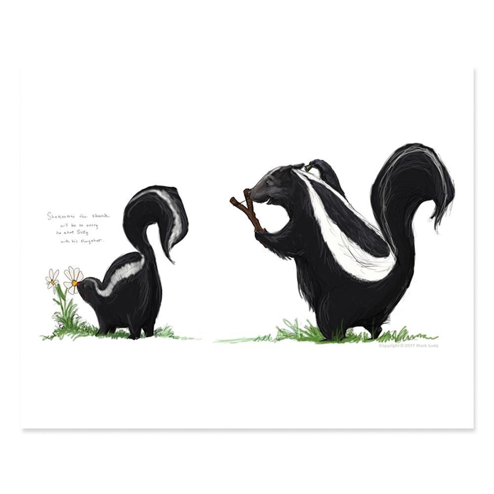 Sherman the Skunk / Sm Print