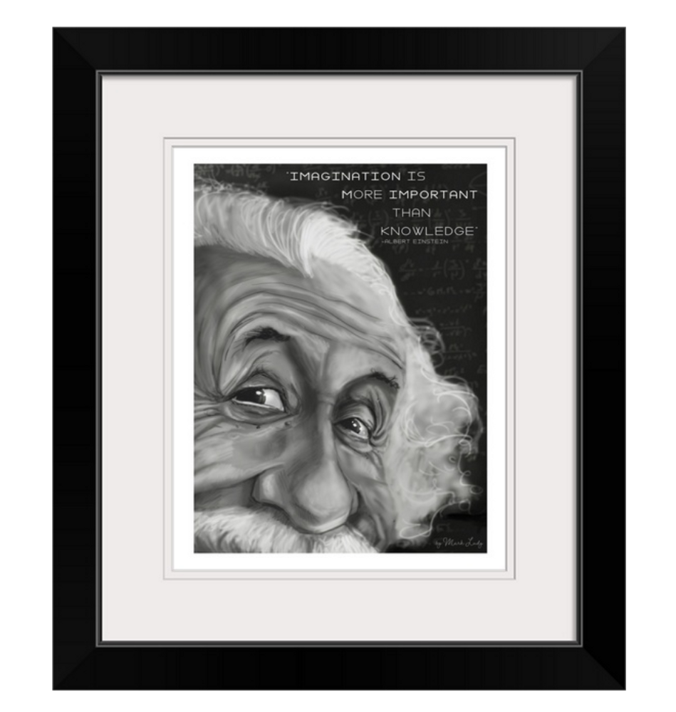 Einstein Imagination Quote / Sm Print