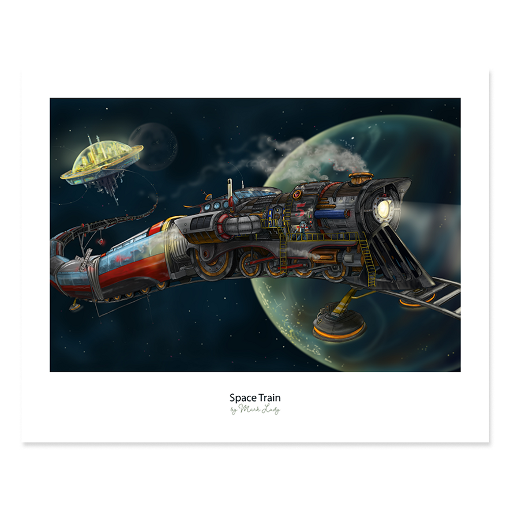 Space Train / Sm Print