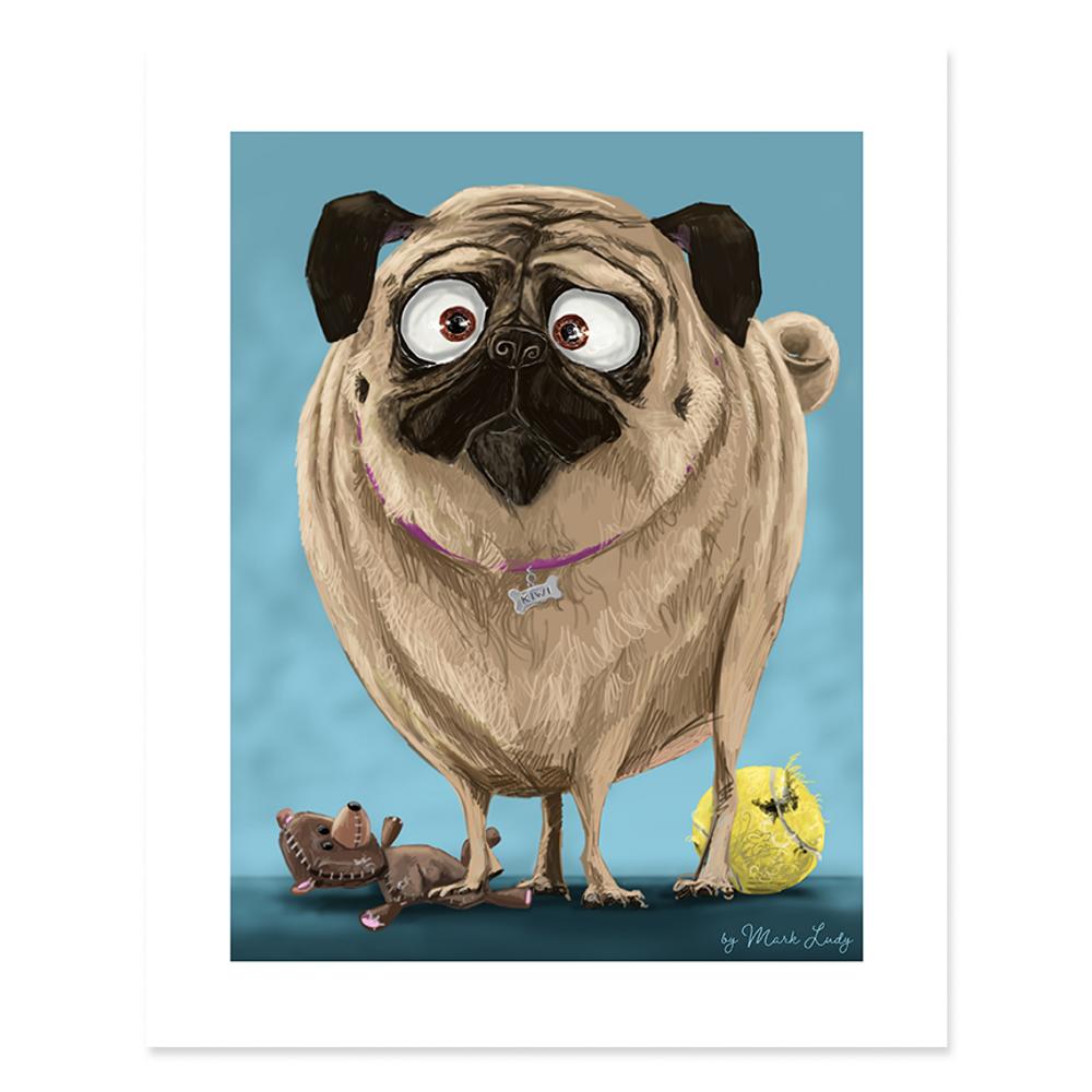 Portrait of a Pug / Sm Print